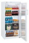 Szafa chłodnicza Fkv 5443, 1-drzwiowa, przeszklona, sterowanie mechaniczne, biała, poj. 572 l