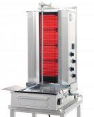 Opiekacz elektryczny, idealny do opiekania mięsa uformowanego w walec, o maksymalnej wysokości (długości walca) do 70 cm i ciężarze do 50 kg.