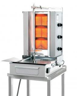 Gyros gazowy, opiekacz pionowy do 40 kg, kebab, grill, 8,4/ 10,5 kW, nierdzewny, POTIS FGD3