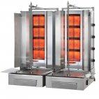 Gyros gazowy, podwójny, opiekacz pionowy do 140 kg, kebab, grill, 2x 14kW, nierdzewny, POTIS F Z GD4