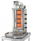Opiekacz pionowy do 30 kg, gyros, kebab, grill gazowy, 7,0 kW, nierdzewny, POTIS G2