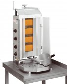 Opiekacz pionowy do 30 kg, gyros, kebab, grill gazowy, 7,0 kW, nierdzewny, POTIS G2L