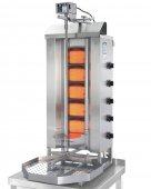 Opiekacz pionowy do 50 kg, gyros, kebab, grill gazowy, 8,75 kW, nierdzewny, POTIS G3