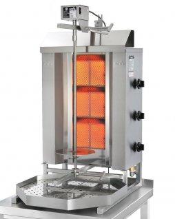 Opiekacz pionowy do 40 kg, gyros gazowy, kebab, grill, 10,5 kW, nierdzewny, POTIS GD3