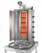 Opiekacz pionowy do 120 kg, gyros gazowy, kebab, grill, 17,5 kW, nierdzewny, POTIS GD5