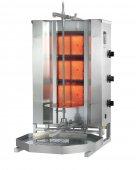 Opiekacz pionowy do 40 kg, gyros gazowy, kebab, grill, 10,5 kW, nierdzewny, POTIS MU GD3