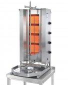 Opiekacz pionowy do 70 kg, gyros gazowy, kebab, grill, 14,0 kW, nierdzewny, POTIS MU GD4
