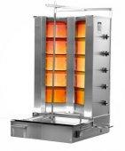 Opiekacz pionowy do 120 kg, gyros gazowy, kebab, grill, 35 kW, nierdzewny, POTIS V F GD5