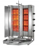 Opiekacz pionowy do 70 kg, gyros gazowy, kebab, grill, 28 kW, nierdzewny, POTIS V MU GD4