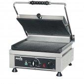 Kontakt grill pojedynczy, ryflowany, elektryczny, 2,5 kW, nierdzewny, POTIS PK 2600