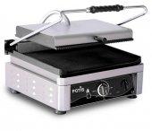 Kontakt grill pojedynczy, ryflowany, elektryczny, 3,0 kW, nierdzewny, POTIS PK 2745