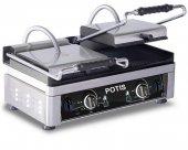 Kontakt grill dwustrefowy, ryflowany, elektryczny, 3,5 kW, nierdzewny, POTIS PK 5530