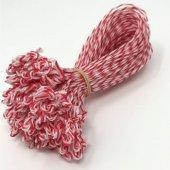 Pętelki do wędlin, biało-czerwone, opakowanie 10 tys. sztuk