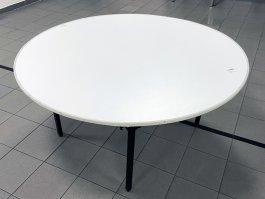 Stół cateringowy okrągły HK FI150, biały, nogi składane, śr. 150 cm