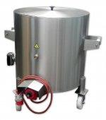 Kocioł elektryczny na kółkach, glicerynowy, okrągły, sterowanie termostatyczne, poj. 120 l