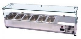 Nadstawka chłodnicza zszybą, witryna nierdzewna, poj. 8xGN 1/4, VCH 4180