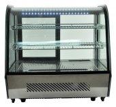 Witryna chłodnicza ekspozycyjna, 2 półki, oświetlenie LED, pojemność 120 litrów, RTW-120L