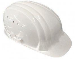 Kask ochronny ztworzywa sztucznego, lekki kask z6stopniami regulacji rozmiaru, biały, 9.390