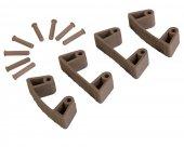 Zestaw klipsów gumowych do wieszaków 1017 i 1018, 4 sztuki, brązowe, 120 mm, VIKAN 101966