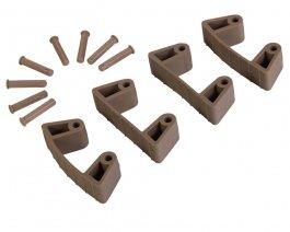 Zestaw klipsów gumowych do wieszaków 1017 i1018, 4sztuki, brązowe, 120 mm, VIKAN 101966
