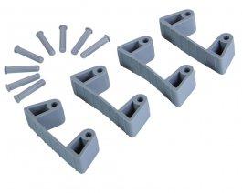 Zestaw klipsów gumowych do wieszaków 1017 i1018, 4sztuki, szare, 120 mm, VIKAN 101988