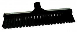 Miotła zdwoma rodzajami włosia, miękka/ twarda, czarna, szerokość 410 mm, VIKAN 31749
