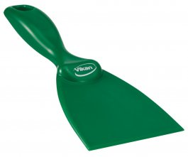 Skrobaczka ręczna zpolipropylenu, szerokość ostrza 75 mm, zielona, VIKAN 40602
