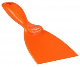 Skrobaczka ręczna zpolipropylenu, szerokość ostrza 75 mm, pomarańczowa, VIKAN 40607