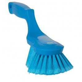 Szczotka ergonomiczna zrączką imiękkim włosiem, długość 330 mm, niebieska, VIKAN 41673