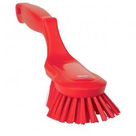 Szczotka ergonomiczna zrączką itwardym włosiem, długość 330 mm, czerwona, VIKAN 41694