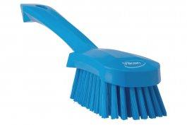 Szczotka do mycia zkrótką rączką, twardość średnia, długość 270 mm, niebieska, VIKAN 41903