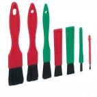 Zestaw szczotek do czyszczenia detali, 7 częściowy, włosie miękkie, dł. 140 mm, VIKAN TRANSPORT 556052