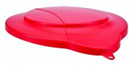 Pokrywa zpolipropylenu do 12-litrowego wiadra 56864, szczelna, czerwona, VIKAN 56874