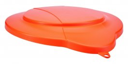 Pokrywa zpolipropylenu do 12-litrowego wiadra 56867, szczelna, pomarańczowa, VIKAN 56877