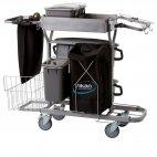 Wózek Compact Plus do sprzątania, do mopów 40 cm, szary, wymiary 1160x540 mm, VIKAN 580311