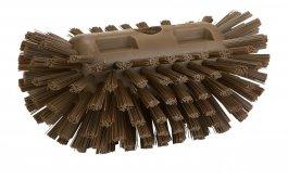 Szczotka do czyszczenia okrągłych zbiorników, twarda, brązowa, 205 mm, VIKAN 703766