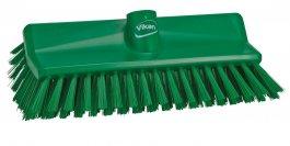 Szczotka kątowa High-Low do szorowania, średnia, zielona, szerokość 265 mm, VIKAN 70472