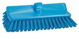 Szczotka kątowa High-Low do szorowania, średnia, niebieska, szerokość 265 mm, VIKAN 70473