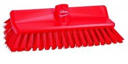 Szczotka kątowa High-Low do szorowania, średnia, czerwona, szerokość 265 mm, VIKAN 70474