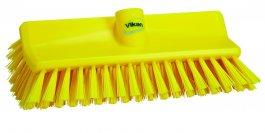 Szczotka kątowa High-Low do szorowania, średnia, żółta, szerokość 265 mm, VIKAN 70476