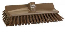 Szczotka kątowa High-Low do szorowania, średnia, brązowa, szerokość 265 mm, VIKAN 704766