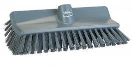 Szczotka kątowa High-Low do szorowania, średnia, szara, szerokość 265 mm, VIKAN 704788
