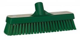 Szczotka do szorowania podłóg iścian, sztywna, zielona, szerokość 305 mm, VIKAN 70602