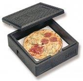 Pojemnik termoizolacyjny na pizzę, termoport do transportu pizzy, wewn. 350x350x175 mm