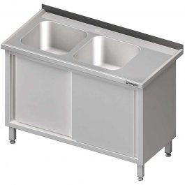 Stół ze zlewem 2-kom.(l),drzwi suwane 1200x700x850 mm, 980917120