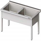 Stół z basenem 2-komorowym skręcany 1300x600x850 mm h=300 mm