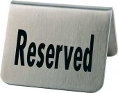 Tabliczka RESERVED ze stali nierdzewnej - zestaw: 2 szt. APS 00013