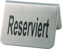 Tabliczka RESERVIERT ze stali nierdzewnej - zestaw: 2szt. APS 00017