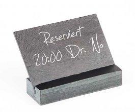 Tabliczka kamienna zmożliwością zapisywania kredą 12x8 cm.APS 00060