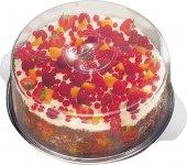 Taca na ciasto ze stali nierdzewnej z pokrywą z tworzywa 30x11 cm.APS 00065